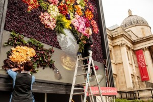 Finishing touches added to the installation by the florists. Photo by Catherine Pound Photography